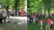 Mladi Socijalisti u druženju sa djecom
